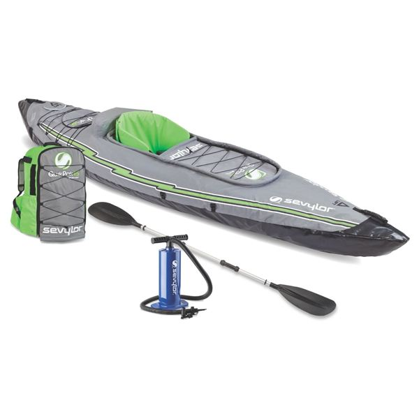 Coleman 1-Person QuikPak Kayak w/ Pump and Paddle