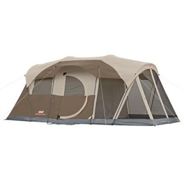 Coleman 17' x 9' WeatherMaster 2 Room Tent Plus Screen Room