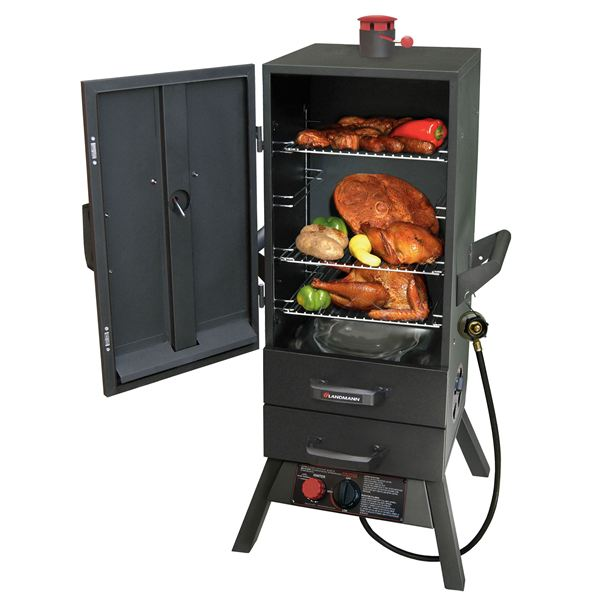 "34"" Gas Easy Access 2 Drawer Vertical Smoker"